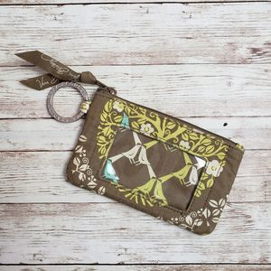 Vera Bradley Bird Jazzy Zip Id Case Wallet